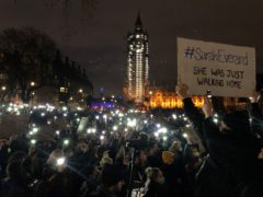 Dame Vera Baird QC said the vigil held over the weekend in memory of Sarah Everard highlighted what many women feared could happen to them (Catherine Wylie/PA)