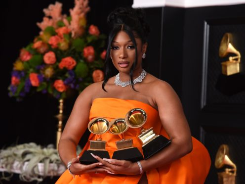 Megan Thee Stallion enjoyed a night to remember at the Grammy Awards (Jordan Strauss/Invision/AP)
