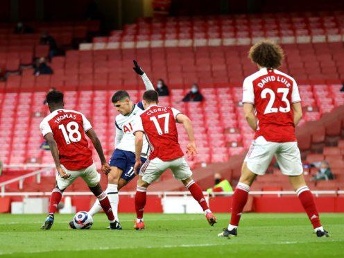 Erik Lamela scored one of the goals of the season against Arsenal (Julian Finney/PA)