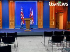 Downing Street press briefing room (ITV News/PA)