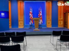 The Downing Street press briefing room will become the new home of the Government's coronavirus press conferences (ITV News)