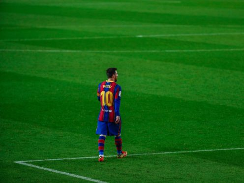 Barcelona manager Ronald Koeman hailed Lionel Messi as the most important player in the club's illustrious history (Joan Monfort/AP)