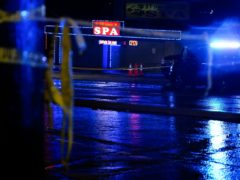 A massage parlor is seen after a shooting, late Tuesday, March 16, 2021, in Atlanta. Authorities say shootings at three Atlanta-area massage parlors have left several people dead, many of them women of Asian descent. (AP Photo/Brynn Anderson)