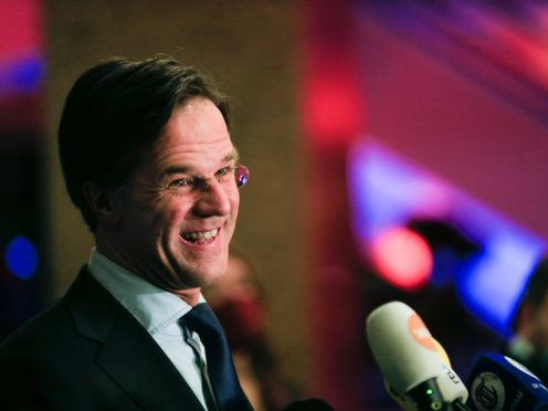 Mark Rutte's party has powered to a fourth consecutive election victory (Eva Plevier/AP)