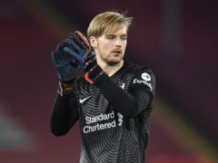 Liverpool goalkeeper Caoimhin Kelleher could make his senior Republic of Ireland debut in Serbia (Peter Powell/PA)