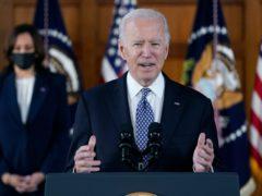 US President Joe Biden and vice-president Kamala Harris (AP/Patrick Semansky)