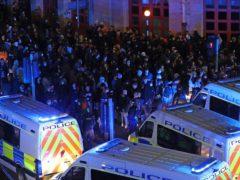 Riot police in Bristol (Andrew Matthews/PA)