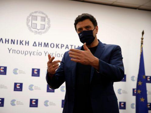 Greek Health Minister Vassilis Kikilias (Thanassis Stavrakis/AP)