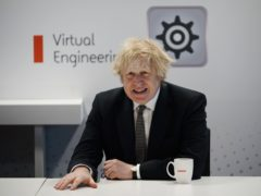 Prime Minister Boris Johnson speaks during a visit to BAE Systems at Warton Aerodrome in Lancashire, to mark the publication of the Integrated Review and the Defence White Paper. Picture date: Monday March 22, 2021.