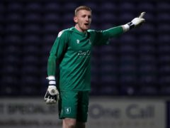 Aidan Stone made a crucial save to earn Mansfield a point (Simon Marper/PA)