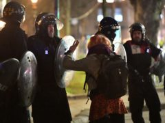 Fourteen people have been arrested as police wound up a demonstration in Bristol just two days after another protest which descended into rioting in the city (Ben Birchall/PA)