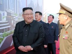North Korean leader Kim Jong Un at a ceremony in Pyongyang on Tuesday. His country's latest missile tests are seen as a move to increase pressure on the US over stalled nuclear negotiations (Korean Central News Agency/Korea News Service/AP)