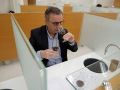 Bordeaux mayor Pierre Hurmic during the tasting session (Christophe Ena/AP)