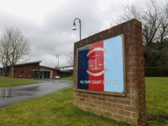 Military Court Centre, Bulford Barracks in Salisbury, Wiltshire (Steve Parsons/PA)