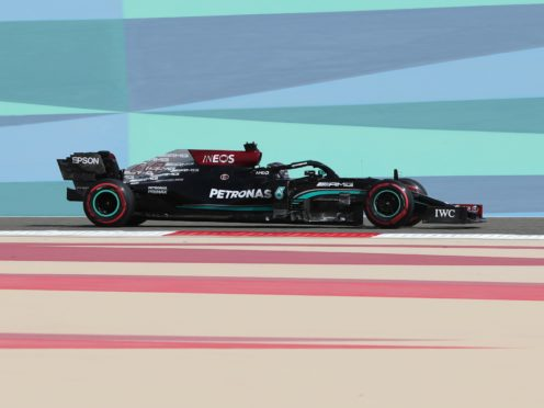 Lewis Hamlton finished fourth in first practice for the opening race of the season (Kamran Jebreili/AP)