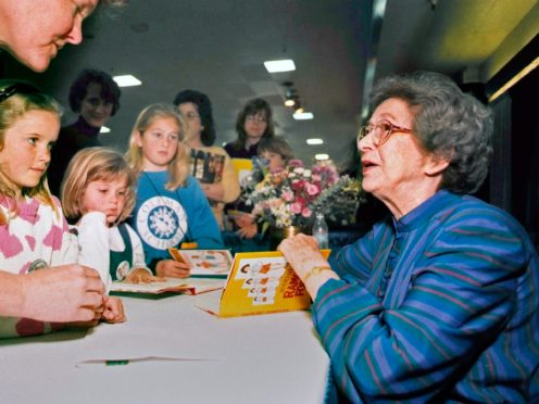 Beverly Cleary signs books at the Monterey Bay Book Festival in 1998 (Vern Fisher/AP)