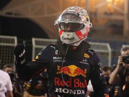 Max Verstappen delivered a supreme final lap to claim pole in Bahrain (Lars Baron/AP)