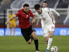 Mason Mount is a doubt for England's World Cup qualifier against Poland (Florian Abazaj/PA)