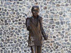 The statue of climate change activist Greta Thunberg (Andrew Matthews/PA)