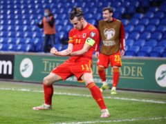 Gareth Bale celebrates Wales' goal in their 1-0 World Cup qualifying victory over the Czech Republic (Nick Potts/PA)
