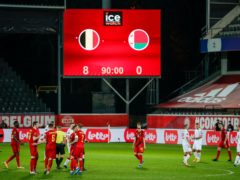 Belgium thumped Belarus 8-0 (Francisco Seco/AP)