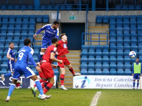 Gillingham's Vadaine Oliver scored the only goal in the win over Wigan (John Walton/PA)