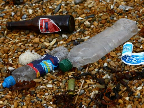 Beach-goers have been urged to take their litter home this summer (Gareth Fuller/PA)