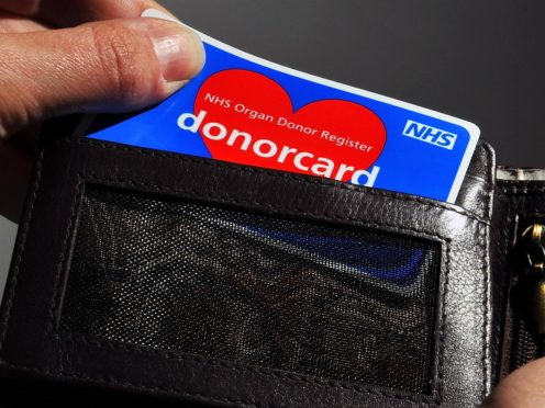 New organ donor legislation comes into force from Friday (Clive Gee/PA)
