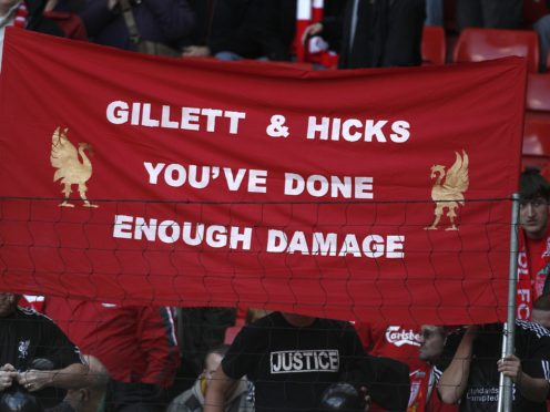 Liverpool fans protested at Tom Hicks and George Gillett during an ill-fated reign (Peter Byrne/PA)