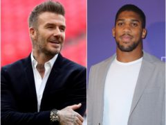 David Beckham, left, and Anthony Joshua met up in Miami (Bradley Collyer/Isabel Infantes/PA)