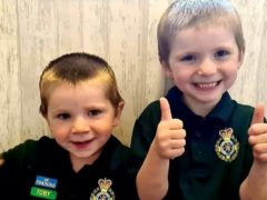Toby, left, and Tommy, right, have sent more than 1,000 cards as thanks to key workers (Lisa Hutchinson)