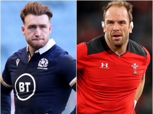 Stuart Hogg and Alun Wyn Jones (Jane Barlow/Adam Davy/PA)