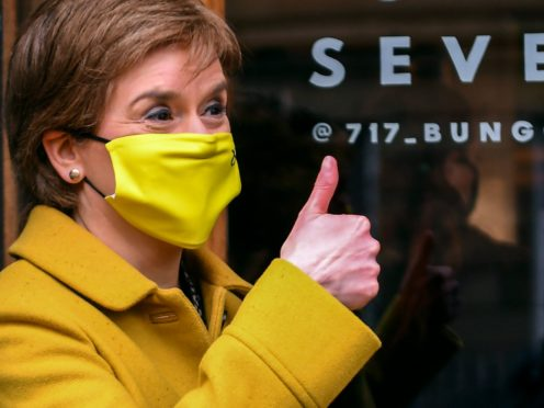 Nicola Sturgeon is planning a virtual tour of Scotland as part of the election campaign (Andy Buchanan/PA)