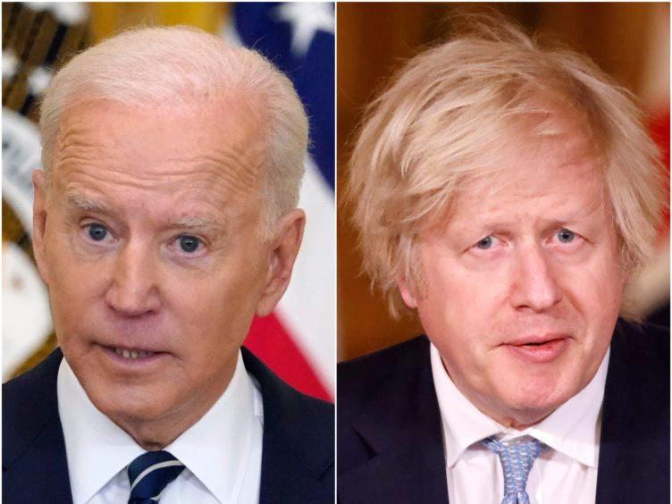 Joe Biden and Boris Johnson (Evan Vucci/AP/Tolga Akmen/PA)