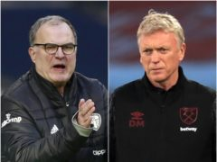 Marcelo Bielsa, left, comes up against David Moyes on Monday (Ian Walton/Adam Davy/PA)