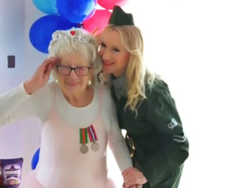 Irene Slavinski and her daughter Jeanette (Help for Heroes/PA)