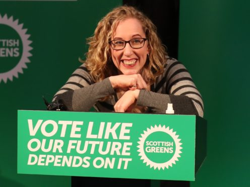 Scottish Green Party co-leader Lorna Slater will outline how her party's investment plans could create over 100,000 jobs (Andrew Milligan/PA)