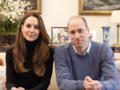 The Duke and Duchess of Cambridge in their video message for Time to Change (Kensington Palace/PA)