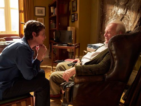 Olivia Colman as Anne and Sir Anthony Hopkins as Anthony in The Father (Lionsgate Films/Sean Gleason/PA)