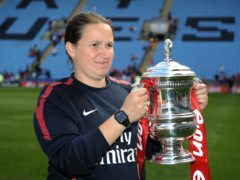 Laura Harvey won three titles and the FA Cup with Arsenal (Andrew Matthews/PA)