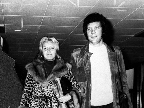 Sir Tom Jones with his wife Linda (PA)
