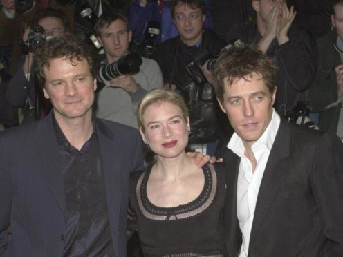 Colin Firth, Renee Zellweger, Hugh Grant (Toby Melville/PA)