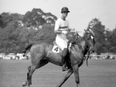 The Duke of Edinburgh plays polo at Smith's Lawn, Windsor Great Park (PA)
