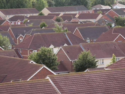 The average house price surged by nearly £16,000 over the year to April to hit a new record high, according to Nationwide Building Society (Yui Mok/PA)