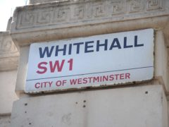 A general view of the sign of Whitehall in London as the Prince of Wales has defended his decision to write a series of letters to government ministers.