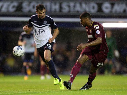Former Stevenage defender Jerome Okimo, right, opened the scoring for Wealdstone (Chris Radburn/PA)
