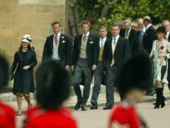 Six of the duke's grandchildren (PA)