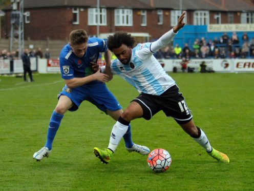 Scunthorpe's Junior Brown (right) will be out for several weeks with a hamstring injury (Richard Sellers/PA)