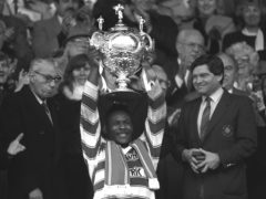 Wigan captain Ellery Hanley lifted the Challenge Cup three times a row (PA Archive).