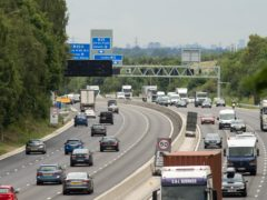 No new smart motorways without a hard shoulder will open in England unless radar technology to detect broken down vehicles is installed, Transport Secretary Grant Shapps has announced (Steve Parsons/PA)